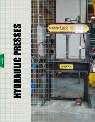 HYDRAULIC PRESSES - Simplex