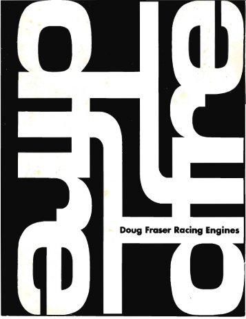 Doug Fraser Racing Engines Catalog - Dougfraser.com