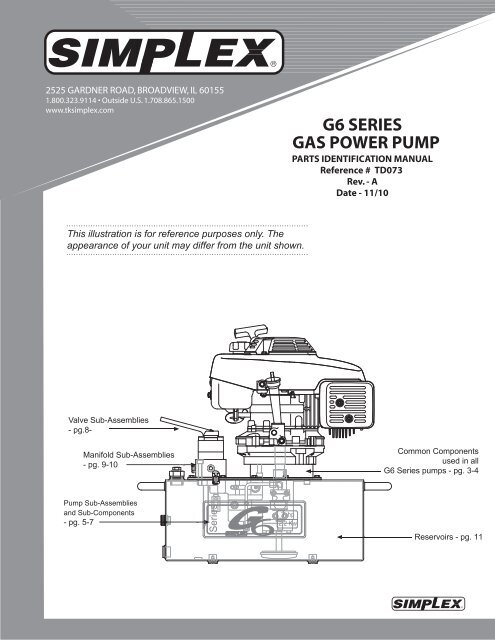 G6 SERIES GAS POWER PUMP - Simplex