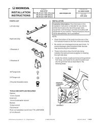 For Installation Instructions - H and A Accessories