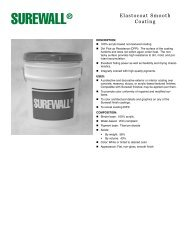 SUREWALL Elastocoat Smooth C o a t i n g - RES Architectural ...