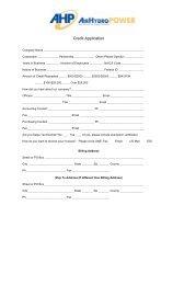 Credit Application - Air Hydro Power Inc