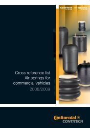 Cross reference list Air springs for commercial ... - ContiTech AG
