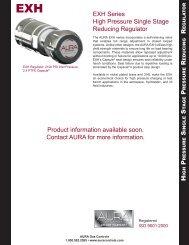 EXH Series High Pressure Single Stage Reducing Regulator ...