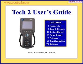 Tech 2 User's Guide - esOBD2.com