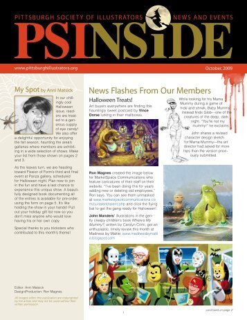 News Flashes From Our Members - Pittsburgh Society of Illustrators