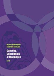 Capacity, Capabilities & Challenges - Government Skills Australia