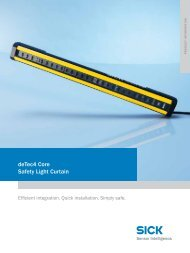 detec4 core Safety Light curtain - Mysick.com