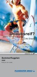 Sommerflugplan - Flughafen Graz