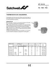 NT 213.16 TK - TKR - TKD THERMOSTATS DE CHAUDIERES - Xref