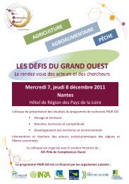 Mercredi 7, jeudi 8 décembre 2011 Nantes - cens.nantes.inra.fr
