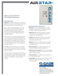FEATURES AND BENEFITS Open Local Controller ... - Case Controls