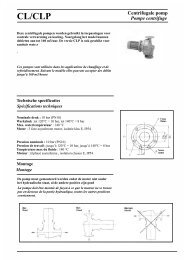 CL/CLP Centrifugale pomp