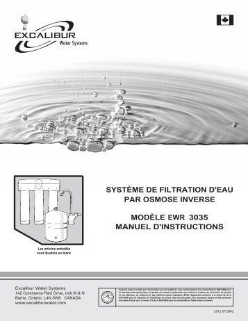 système de filtration d'eau par osmose inverse modèle ewr 3035 ...
