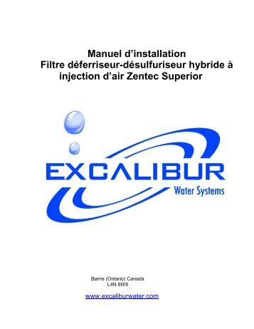 Manuel d'installation Filtre déferriseur-désulfuriseur hybride à ...