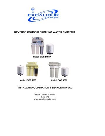 reverse osmosis drinking water systems - model ewr 5100p