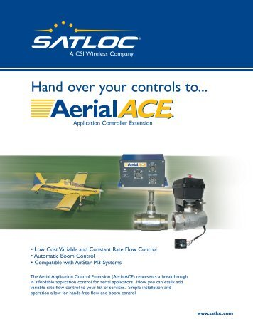 Hand over your controls to... - Agrotec