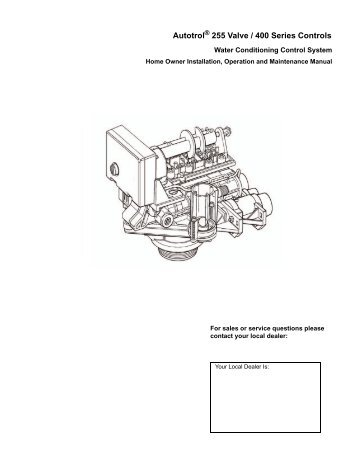 1018075 Home Owners Manual Rev O - Pentair Residential Filtration