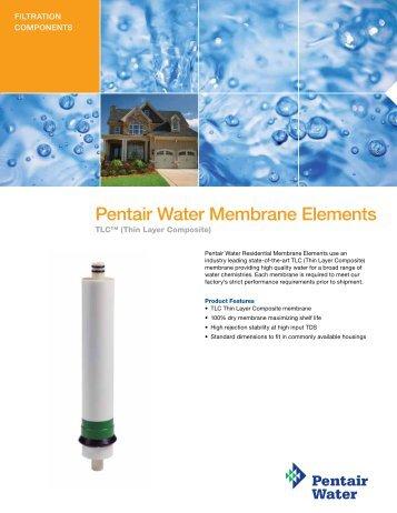 Pentair Water Membrane Elements - Pentair Residential Filtration
