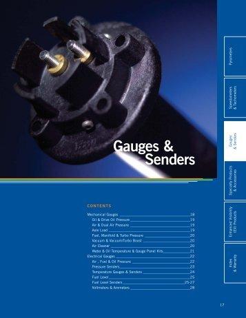 Gauge And Sender Brochure