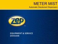 Training Presentation - Zep Equipment