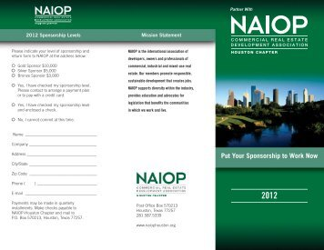 Put Your Sponsorship to Work Now - naiop