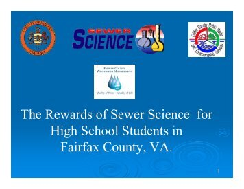 Why Sewer Science in Fairfax County? - Virginia Water Environment ...