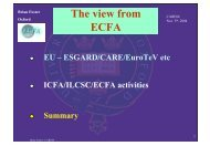 ECFA views on Accelerator Activities in Europe and the World - Desy