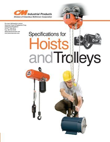 CM Specifications for Hoists and Trolleys - Crane and Hoist ...