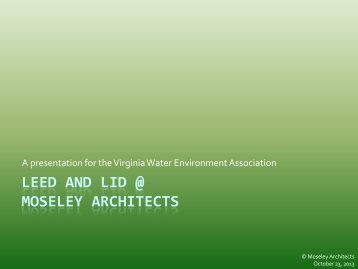 presentation - Virginia Water Environment Association
