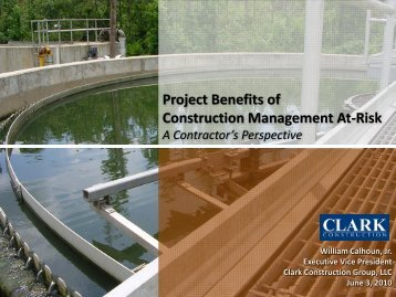 Project Benefits of Construction Management At-Risk