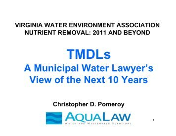 A Municipal Water Lawyer's View of the Next 10 Years
