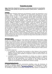 Proposition de stage - Inra