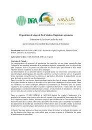 Proposition de stage de fin d'études d'ingénieur agronome ... - Inra