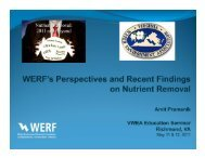 werf perspectives and recent findings on nutrient removal