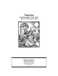 TimeLine - Matrix Software