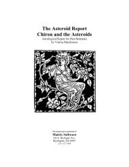to read an Asteroid Report - Matrix Software