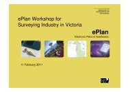 ePlan Workshop for Surveying Industry in Victoria - Spear