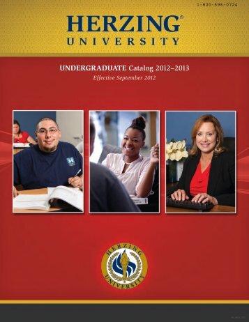 UNDERGRADUATE Catalog 2012–2013 - Herzing University