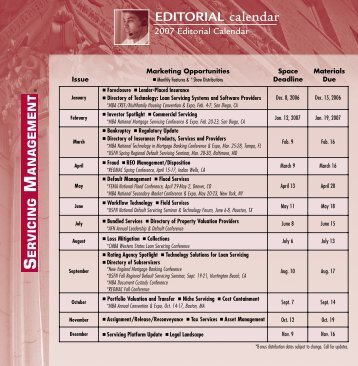 EDITORIAL calendar - Zackin Publications