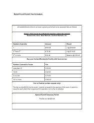 Retail Food Permit Fee Schedule