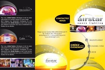 Décoration Cube - Airstar, Lumière & Communication