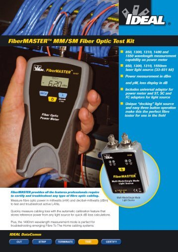 FiberMASTER™ MM/SM Fiber Optic Test Kit - TR instruments
