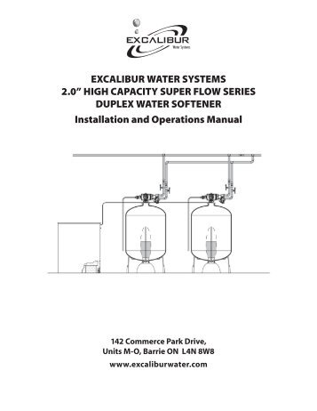 2.0 high capacity super flow series duplex water softener installation