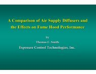 A Comparison of Air Supply Diffusers and the Effects on Fume ...  - I2SL