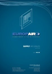 SUPPLY AIR GRILLES - Europair