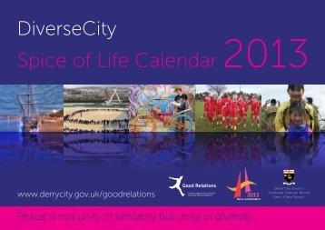 Spice of Life Calendar 2013 - Derry City Council