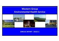 Western Group Environmental Health Service - Derry City Council