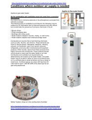 Conditions where outdoor air supply is needed - Water Heater ...