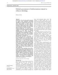 Global assessment of deforestation related to ... - Tobacco Control